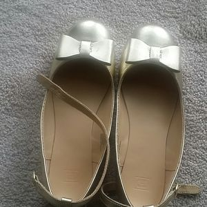 Janie and Jack gold shoes size 3k